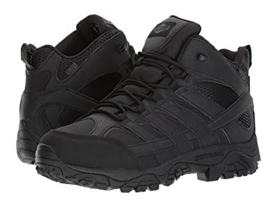 Merrell Work Moab 2 Mid Tactical Waterproof (Black) Men