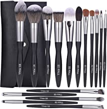 BS-MALL Makeup Brush Set 16pcs Makeup Brushes Premium Synthetic Bristles Powder Foundation Blush Contour Concealers Lip Eyeshadow Brushes Kit