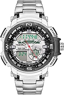 TIMEWEAR Analogue Digital Sports Stainless Steel Chain Watch for Men & Boys - TIMEWEAR 1514G