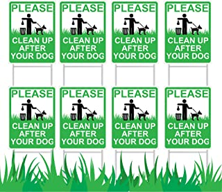 JekStar Dog Poop Yard Sign with Stake│Weather-Proof...