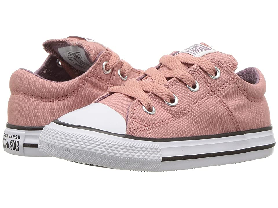 Converse Kids Chuck Taylor(r) All Star(r) Madison Ox (Infant/Toddler) (Rust Pink/Violet Dust/White) Girl