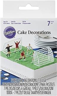 Wilton Set Decorativo Figuras de Fútbol, 5 x 8 x 14 cm, 7 Unidades