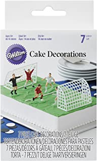 Wilton Set Decorativo Figuras de Fútbol, 5x8x14cm, 7 Unidades
