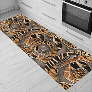3D Runner Rug for Hallway, Very Long Narrow Entryway Carpet, Non Slip Cuttable Area Rugs for Kitchen Stairs Indoor Front D...