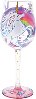 Enesco Designs by Lolita Unicorn Artisan-blown Glass Wine Glass, 15 oz.