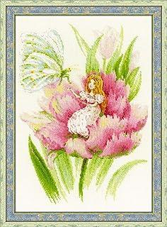 "RIOLIS Thumbelina Counted Cross Stitch Kit, 8¼"" x 11¾"" Zweigart 18 ct, Beige AIDA 26 Colors"