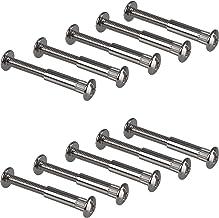 Gedotec meubelschroeven M6 verbindingsschroef met huls | houtdikte 32-42 mm | kastverbindingskruisuitsparing PZ2 | 10 stuk...