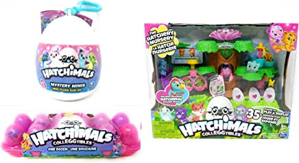 Hatchimals Playset Non-Exclusive 12 Colleggtibles Mystery Mini Clip-On Bundle