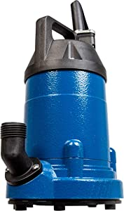 Little Giant LG-MPAU33 Aluminum Multi-Purpose Pump, 1/3 hp, Blue