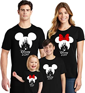 Natural Underwear Family Trip Mickey Minnie Mouse Squad Matching Couple T-Shirts