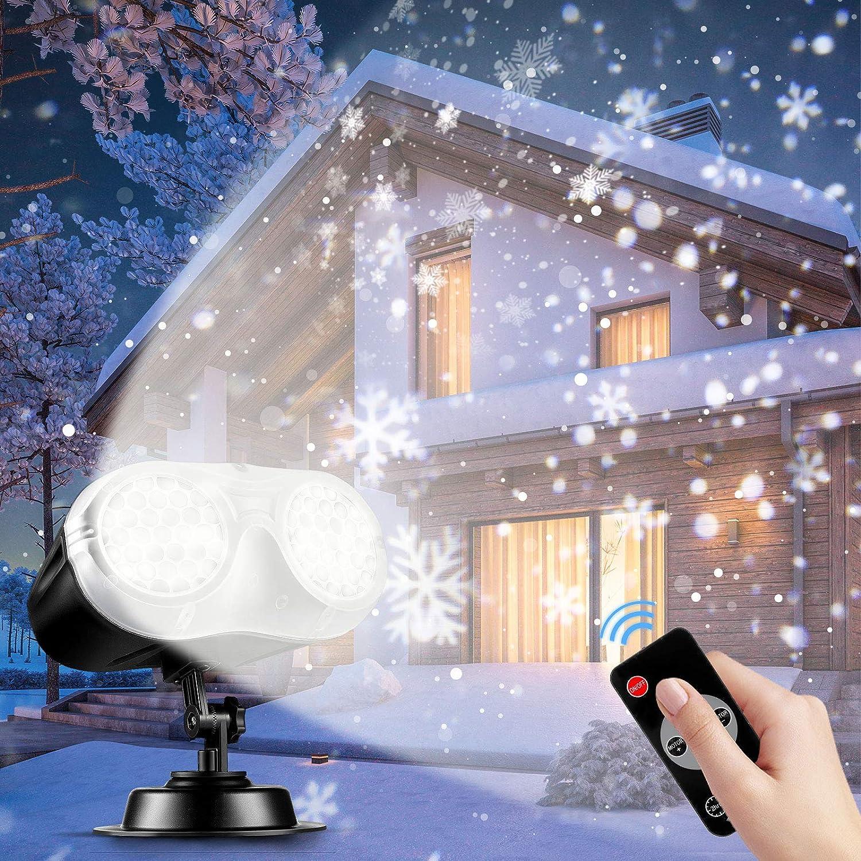 NACATIN Ranking integrated 1st place Snowfall LED Light Projector Fees free!! Binocular 2020 Chri Upgrade