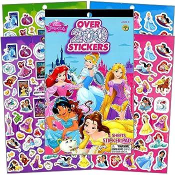 Snow White Belle NEW Disney Princess 3 Roll Sticker Box Over 1,600 Stickers!