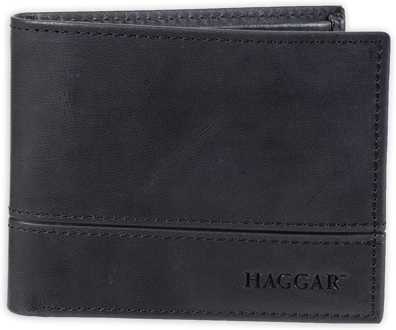 Haggar Men's Leather Traveler Wallet