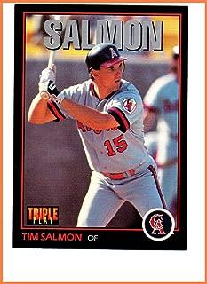 TIM SALMON ANAHEIM CALIFORNIA ANGELS 1993 DONRUSS TRIPLE PLAY #37