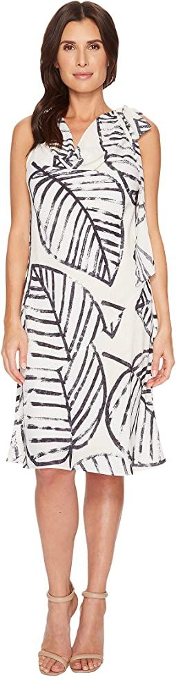 NIC+ZOE Etched Leaves Tie Dress