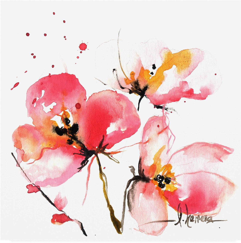 Trademark Fine Art Blooms Hermanas IV by Leticia Herrera, 14x14