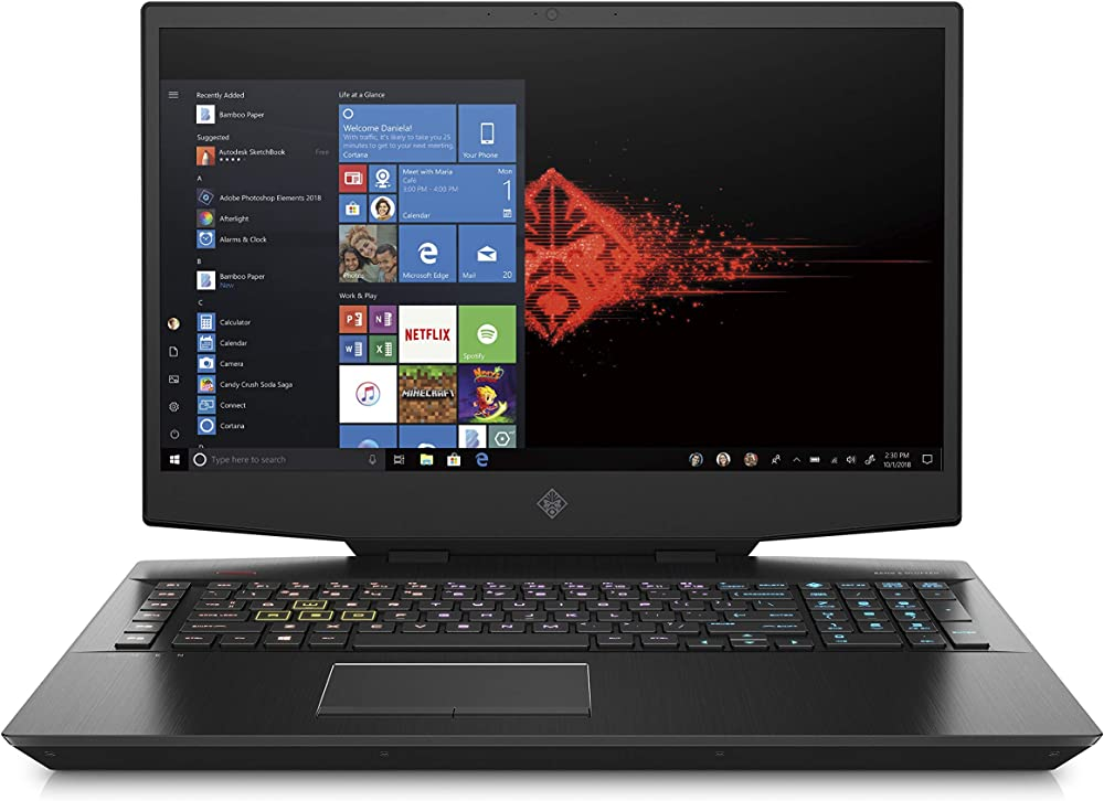 Hp gaming notebook, intel core i7-9750h, ram 16 gb, ssd 256 gb, sata 1 tb, nvidia geforce rtx 2070 8 gb OMEN 17-cb0010nl