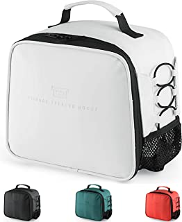 Lunch Box Insulated Lunch Bag for Men Women, Leakproof Thermal Reusable Lunch Tote for Adult, Lunch Cooler for Office Work Outdoor Picnic by Soundance, White
