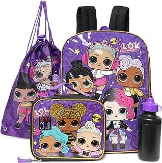 LOL Surprise Multi - Piece Backpack Lunch Box Set (Hiphop Club)