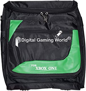 Digital Gaming World® New Design Model High Quality Travel Bag Case for Xbox One Consoles (Color: Black and Green Mix) (Co...