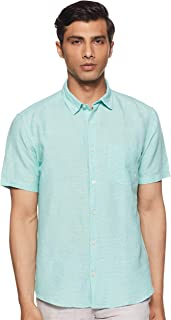 DJ&C By fbb Men's Checkered Regular Fit Casual Shirt