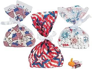 Fun Express 36 ~ Patriotic Cellophane Goody Bags ~ Approx. 5