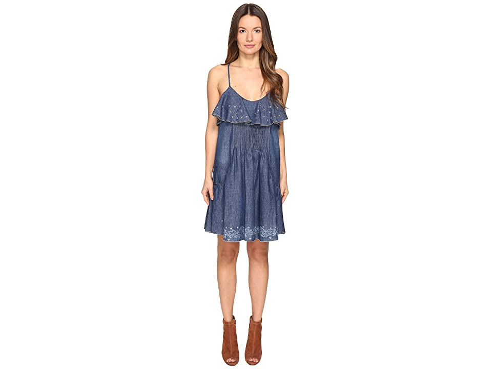 Just Cavalli Laser Cami Western Dress (Denim) Women