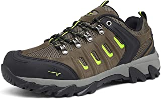 NORTIV 8 Men's Waterproof Hiking Shoes Lightweight Leather Low-Top Hiking Shoes for Outdoor Trailing Trekking Camping Walking