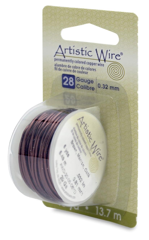 Artistic Wire 28 Gauge Wire, Brown, 15-Yard