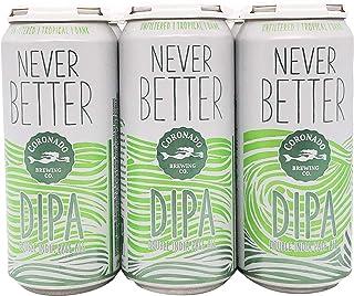 Coronado Never Better Double IPA, 473 ml (Pack of 6)
