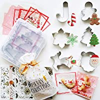 6-Pieces Hknmtt Christmas Cookie Cutter Shapes Large Set