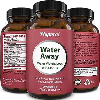 Phytoral Water Away Diuretic Pills - Natural Water Support for Men and Women - Pure Vitamin B6 Dandelion Gr...