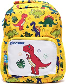 Kids School Backpack Lightweight Toddler Bookbags Preschool Children Daypack Dinosaurs Pattern Yellow
