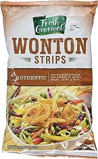 Fresh Gourmet Wonton Strips, Authentic, 1 Pound