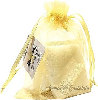 Aromas de Cantabria® Vainilla Saquito aromatizador para armario,100% natural y hecho a mano, no mancha, 100% artesanal, du...