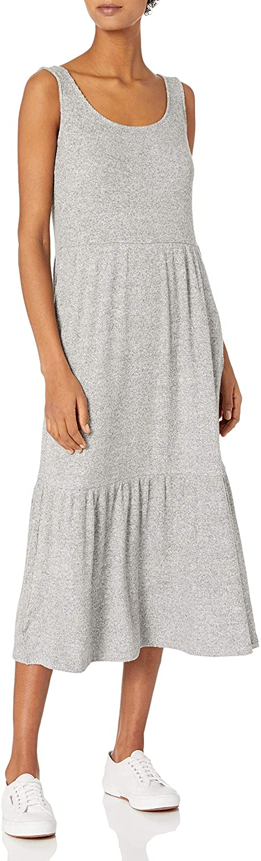 Calia Tiered Tank Dress Oatmeal