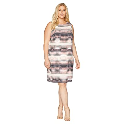 Vince Camuto Specialty Size Plus Size Sleeveless Ancient Muses Shift Dress (Rich Cream) Women