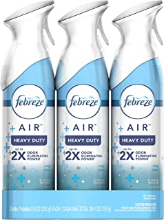 Febreze Air Freshener Heavy Duty Spray, Odor Eliminator, Crisp Clean, 8.8 Oz (Pack of 3)