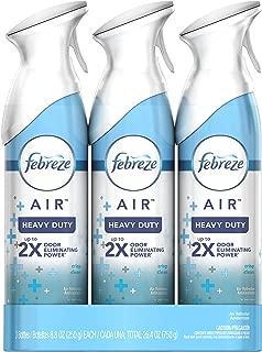 Febreze AIR Freshener Heavy Duty Crisp Clean, 8.8 Oz, Pack of 3