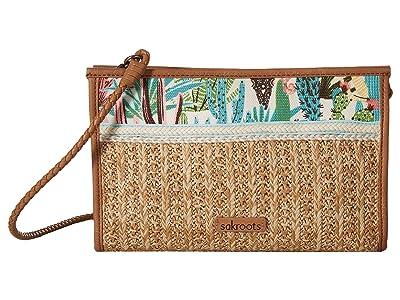 Sakroots Roma Mini Straw Crossbody (Natural Mojave Mirage) Cross Body Handbags