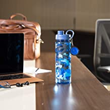 Royalford RF6419 600ml Water Bottle - Reusable Water Bottle Wide Mouth with Hanging Clip | Printed Bottle | Perfect while ...