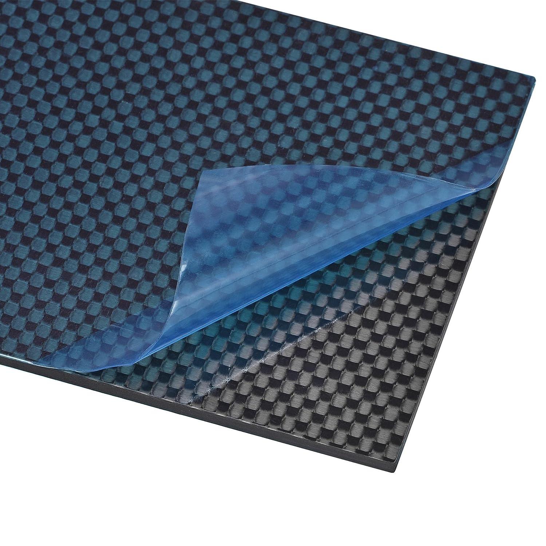 uxcell mart Carbon Fiber Popular popular Plate Panel 75mm Sheets x 3mm 125mm