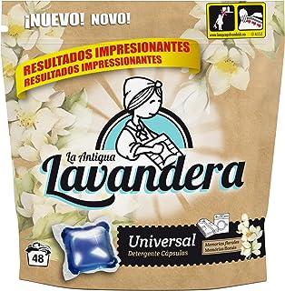 La Antigua Lavandera Detergente Universal en Cápsulas, 48 lavados - 2 Paquetes de 1270 gr - Total: 2540 gr