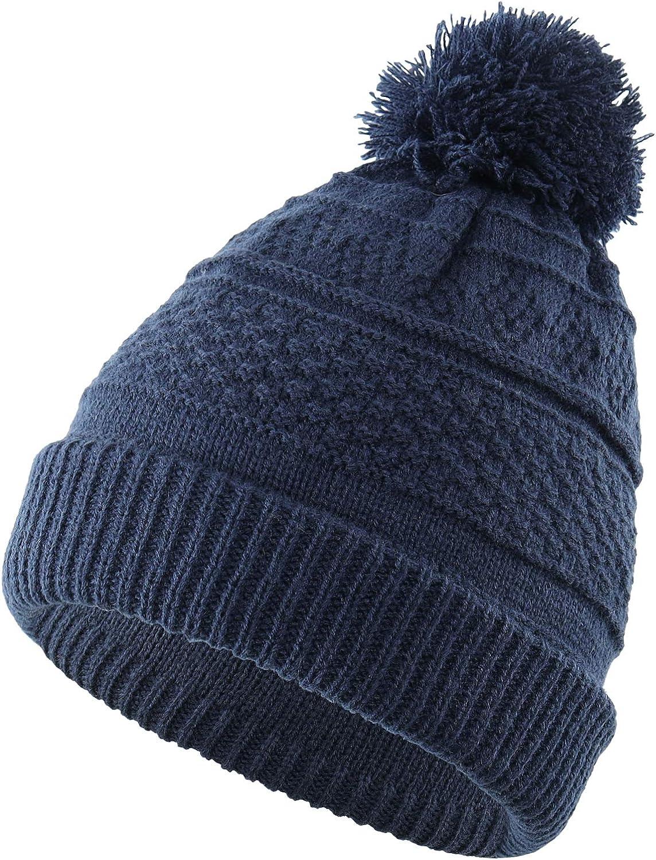 Home Prefer Toddler Girls Beanie Warm Kids Winter Hat Knit Skull Caps with Pom