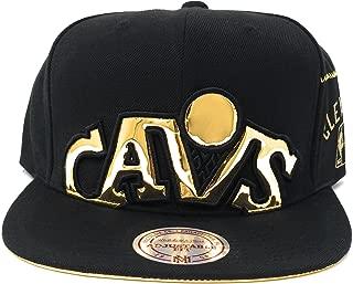 Men's Black/Gold NBA Cleveland CAVS Snapback Cap