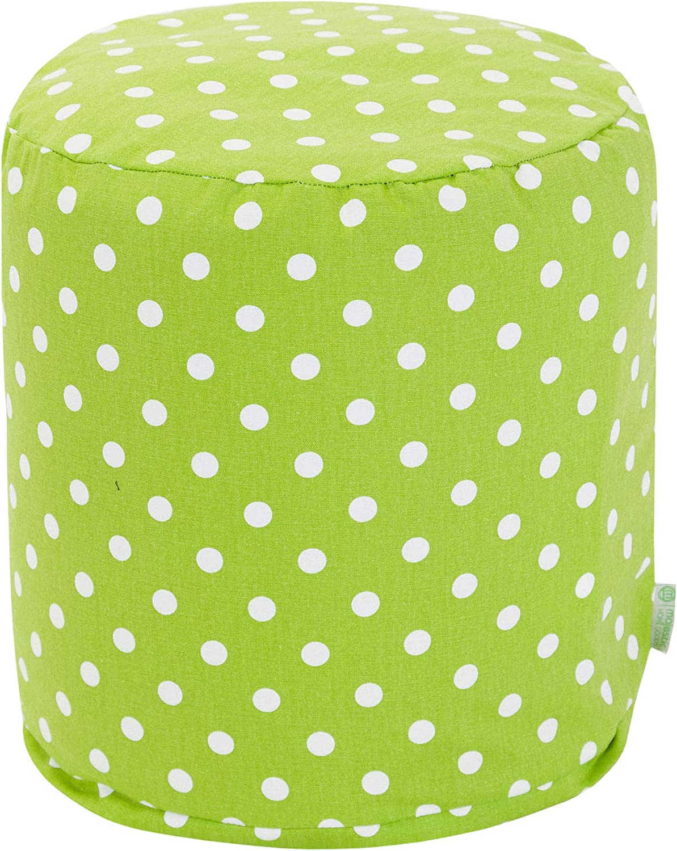 Majestic Home Goods Lime Small Polka Dot Small Pouf