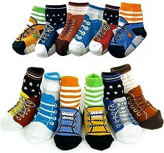 Toptim 6 Pairs Non-skid Socks,Toddler Boy and Girl Socks for 6-24 Months