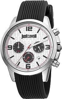 Just Cavalli Homme Chronographe Quartz Montre avec Bracelet en Silicone JC1G175P0015