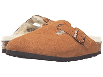 Birkenstock Boston Shearling (Mink Suede) Clog Shoes