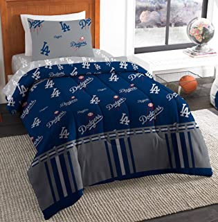 The Northwest Company MLB Los Angeles Dodgers Twin Bed in a Bag Complete Bedding Set #802195105